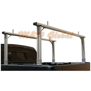 Aluminum Truck Rack Universal Adjustable No Drill Install 400 Lbs Capacity