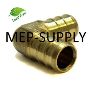 1 2 Pex Elbow Brass 1 2 Inch 90 Crimp Fitting Lead Free Lot Of 100