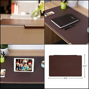 Large Rectangular Lipped Waterproof Tpu Non Slip Office Home Desk Mat Pad Brown