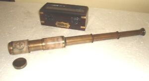 Leather Telescope Dolland London Monocular Nautical Brass Spyglass Pirate Scope
