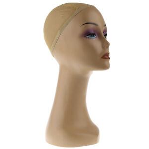 Female Mannequin Head Wig Hair Scarf Display Model Stand Practical hairnet
