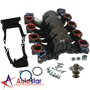 Upper Intake Manifold W Gasket Thermostat O rings For Lincoln Mercury Ford 4 6l