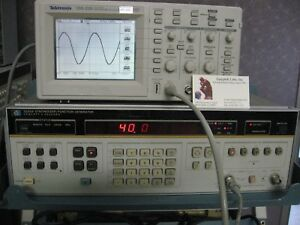 20 Mhz 40 V P pk Frequency Synthesizer Function Generator Sweep Hp3325a Opt 2