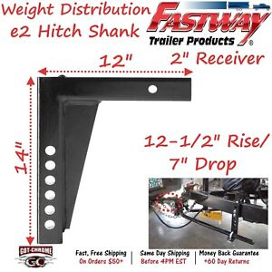 92 02 4315 Fastway Trailer E2 Weight Distribution 12 Hitch Shank With 8 Drop