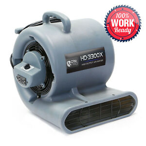 Carpet Dryer Air Mover 3 Speed 1 3 Hp Blower Fan Gfci Outlets Industrial Grey