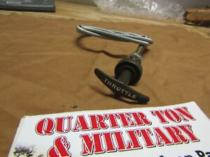 Jeep Willys M38 M38a1 Nos T Handle Throttle Cable Very Nice G740 G758
