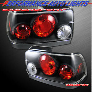 Set Of Pair Black Altezza Style Taillights For 1993 1997 Toyota Corolla