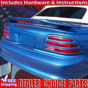 1994 1995 1996 1997 1998 Ford Mustang Cobra Factory Style Spoiler Led Unpainted