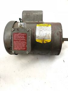 Used Baldor Vl3506a 3 4 Hp 3450 Rpm Single Phase Electric Motor b471