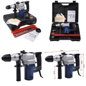 850w Electric Rotary Hammer Drill Sds Chisel Bits Demolition Kit W Case New