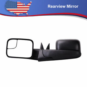 2xmanual Tow Mirrors None Heated For 94 01 Dodge Ram 1500 94 02 2500 3500 Pickup