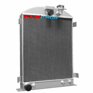 4row Aluminum Radiator For 1932 Ford Hi Boy Hotrod Grill Shells Ford Engine