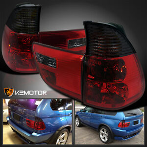 2000 2006 Bmw X5 E53 Red Smoke Lens Tail Lights Lamps Left Right