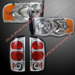 Combo Set Of Headlights Taillights For 02 05 Dodge Ram 1500 And 03 05 2500 3500