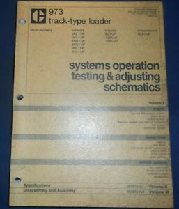Cat Caterpillar 973 Track Loader Sys Op Testing Adjust Schematic Service Manual