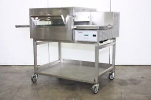 Lincoln 1132 Commercial Electric Pizza Sandwich Oven Conveyor On Stand