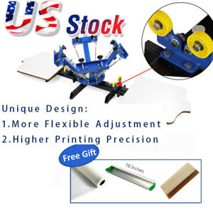 Usa 4 Color 2 Station Silk Screen Printing Machine T shirt Diy Press Printer