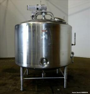 Used Dci dairy Craft Inc Jacketed Tank 800 Gallon 316 Stainless Steel Vertic