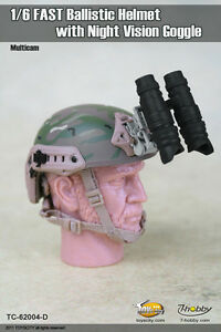 1:6 Toys City FAST Ballistic Helmet D for Action Figure w Night Vision Goggle