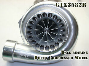 Upgrade Dual Ceramic Ball Bearing Turbo Charger Gt35 Gt3582 A r 70 1 06 Vband T3