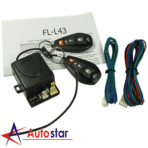 New Universal Car Remote Control Central Kit Door Lock Keyless Entry System