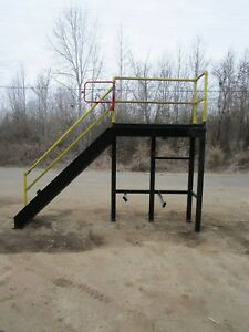 Industrial Steel Mezzanine 8 Step Stairs Staircase Stairway 80 h X 27 w