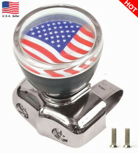 Us American Flag Steering Wheel Spinner Suicide Knob Handle For Car Truck Rvboat