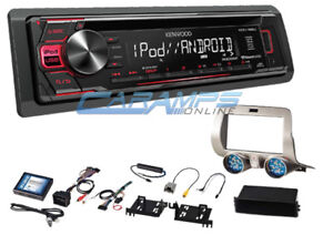 New Kenwood Stereo Radio W Cd Player Aux usb Inputs W Install Kit For Camaro