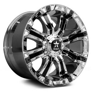 18x10 Chrome 94 r 94rc 8x170 10 Nitto Trail Grappler 285 65r18 Rims Tires