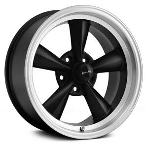 17 Inch 17x9 5 Ridler 675 Black Machined Wheel Rim 5x4 75 5x120 65 5