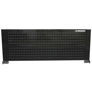 Husky 52 In Heavy Duty Pegboard Back Wall Tool Cabinet Organizer Storage Black