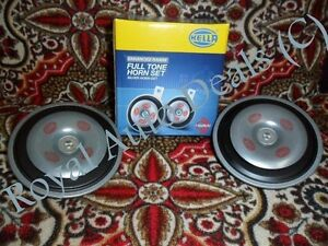 Genuine Guaranteed Hella Silver Electronic Horn B36 12v pair Us