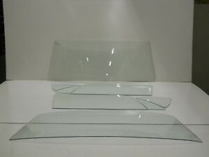 Clear Glass 1965 1966 Ford Mustang Fastback Windshield Vent Door Rear Back