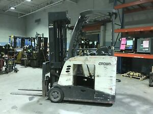 2009 Crown Rc5545 40 Electric 4000lbs Stand Up Forklift