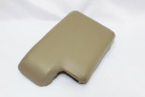 Beige Center Console Lid Armrest Cover Synthetic Leather For 06 11 Bmw E90