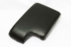 Black Center Console Lid Armrest Cover Synthetic Leather For 06 11 Bmw E90