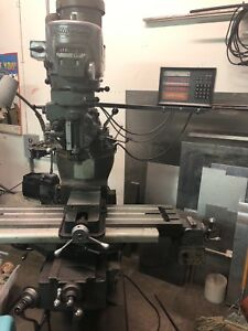 Bridgeport Vertical Milling Machine 48 X 9 Table Variable Speed 2 Hp