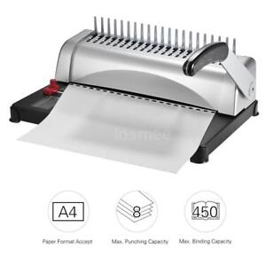 A4 Paper Puncher Binder Punch 450 Sheets Binding Machine 21 Holes Home Office