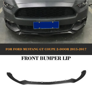 Front Bumper Lip Chin Spoiler Refit Fit For Ford Mustang 2d 15 17 Carbon Fiber