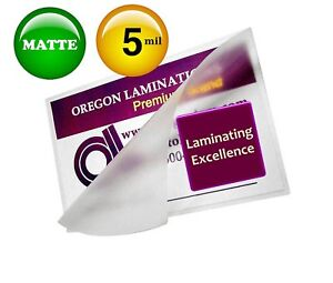 Matte Menu Laminating Pouches 12 X 18 Pack Of 100 5 Mil Laminator Sleeves