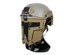 DLP Tactical Steel Full Face Mask for ACH  MICH  FAST Bump Helmet