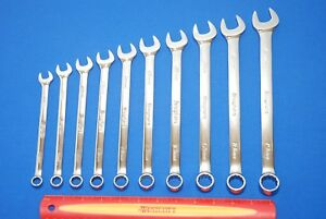 Snap on 10 Pc Metric Flank Drive Combination Wrench Set Oexm710b New Ships Free