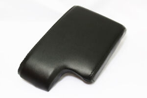 Black Center Console Lid Armrest Cover Real Leather For 99 06 Bmw E46