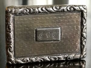 Sterling Silver Vinaigrette William Simpson Birmingham 1842