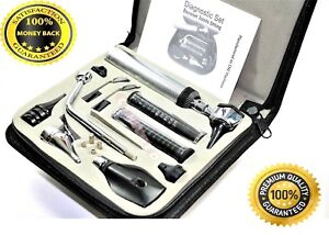 Ent ear nose throat Diagnostic otoscope ophthalmoscope Set W zipper Case New