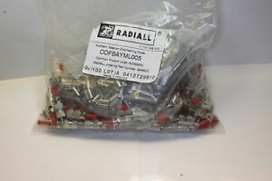 Radiall Fiber Optic Connector 994664z Bag Of 100 With Hardware