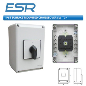 Esr Ip65 Rotary Electrical Changeover Switch 63amp 100amp 2 Pos 4 Pole Solar Dc