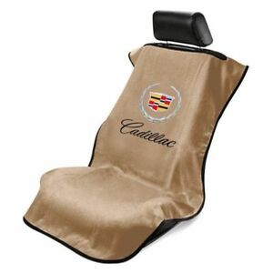 Cadillac Logo Universal Cotton Tan Console Seat Armour For Cadillac All Model