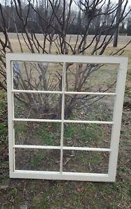 Architectural Salvage 8 Pane 36x31 Antique Wood Window Sash Frame Pinterest