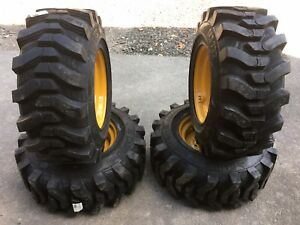 12 16 5 Sks732 Hd Skid Steer Tires On Wheels rims For John Deere 320 325 326 328